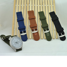 18mm 20mm Strong INFANTRY Military Wrist Army Nylon Canvas Watch Strap Band