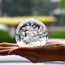 Décoration de la maison 8 cm Cristal Bulle Boule De Décoration De Mariage Boule De Verre Rare Bonne Chance De Mode Magique Transparent (HD-1600140)(China (Mainland))