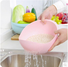 Bright kitchen to wash rice is rice washing sieve thickened Wash rice pots Plastic Drain vegetables basket vegetables basket(China (Mainland))