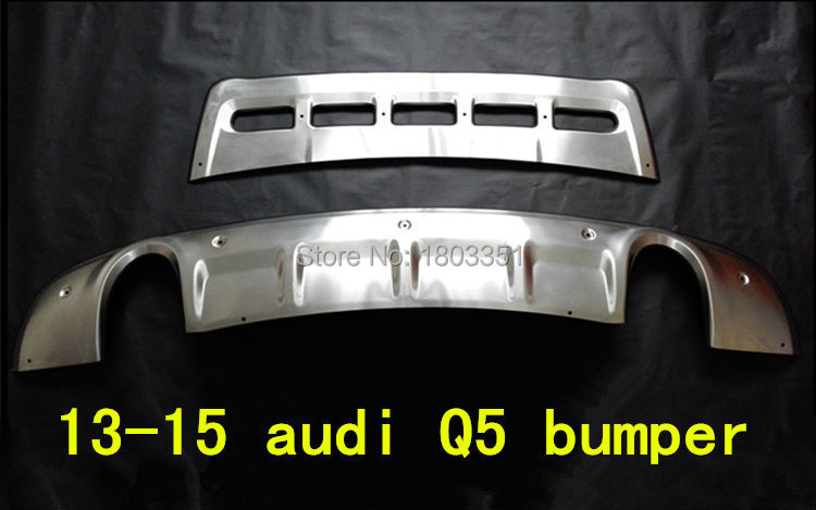 for audi Q5 bumper front+rear protector bumper guard q5 body kit 2013-14(China (Mainland))