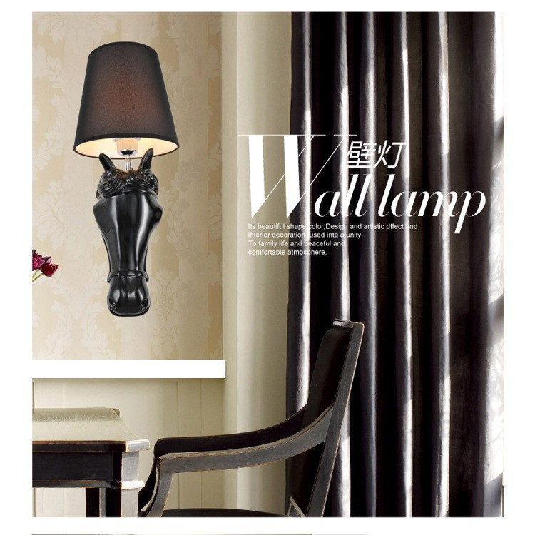 Young horse Design bedside wall lamps bathroom bedside lamp LED light living room wall sconce deco lampe(China (Mainland))