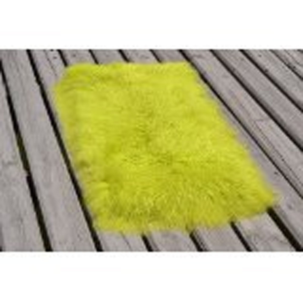 2016 Genuine Light Green Mongolian Tibet Fur Rug Plate Throw Blanket Hide Carpet New Long Wool 2'x4'(China (Mainland))