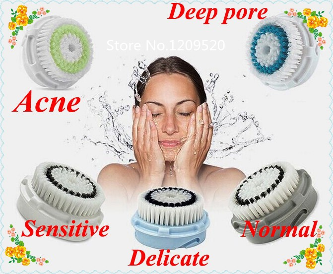 Здесь можно купить  100pcs pack New 5 types Replacement Facial Cleanser Brush Heads for Classic and plus, Free shipping by DHL 100pcs pack New 5 types Replacement Facial Cleanser Brush Heads for Classic and plus, Free shipping by DHL Красота и здоровье