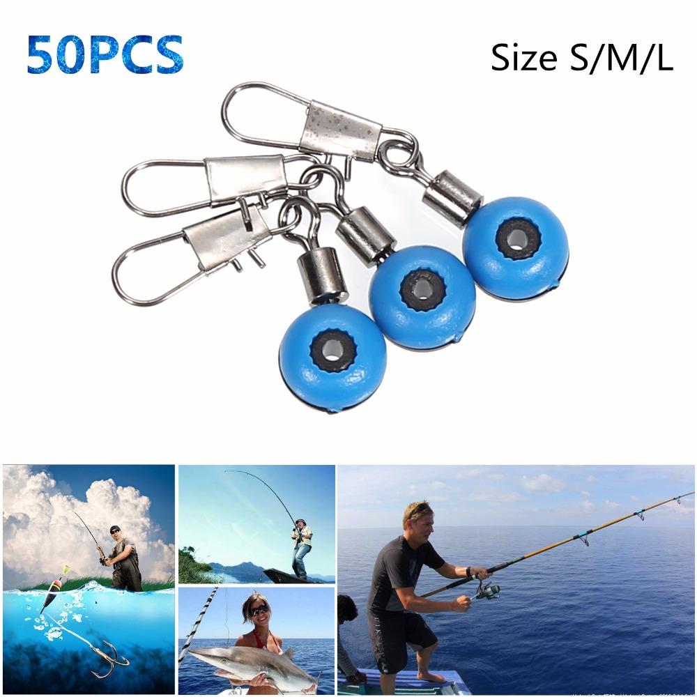 50pcs/lot Fishing Line to Hook Swivels Shank Clip Connector Interlock Snap Sea Space Bean Lure(China (Mainland))