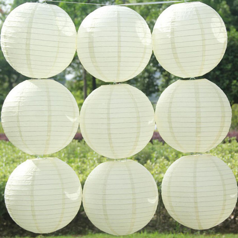 10 pcs Chinese Paper Lanterns For Party and Wedding Decoration Hang White Paper Lanterns(China (Mainland))