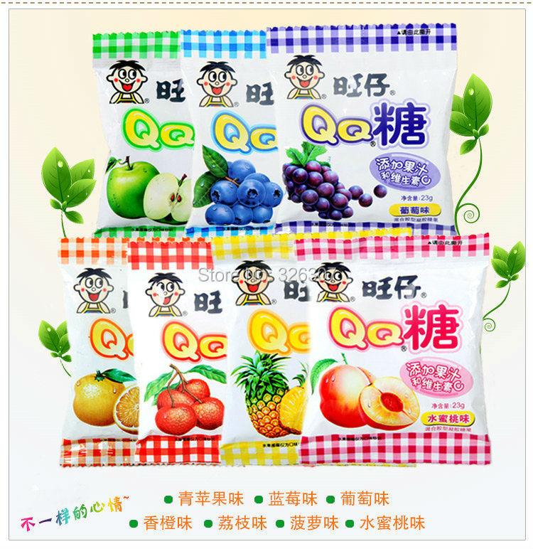 Chinese food Taiwan snack QQ Wang Zi Wangwang sugar fruit juices vitamin C candy soft sweets 23gX40bags(China (Mainland))