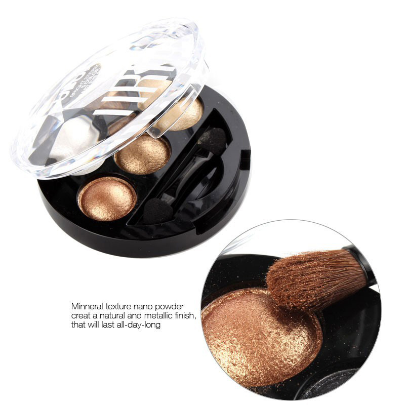 Professional Eye Shadow Palette 5 Colors EyeShadow Powder Metallic Shimmer Brand Makeup Cosmetics Eye Shadow Make Up Palette(China (Mainland))