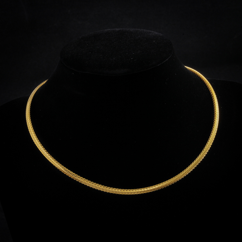 Chock Necklace 2016 New 18K Gold Plated /316L Stainless Steel Necklaces For Women/ Men Jewelry Gift Snake Chain Wholesale(China (Mainland))