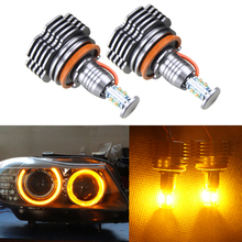 Buy Super Bright 40W High Power H8 LED Angel Eyes Halo Ring Bulb BMW BMW X5 E70 X6 E71 E90 E91 E92 M3 Auto Car Light Source for $62.10 in AliExpress store