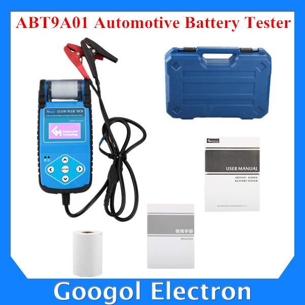 2015 New Arrival ABT9A01 Automotive Battery Tester with Printer Car Auto Battery Tester Fast Express Shipping(Hong Kong)