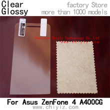 Clear Glossy LCD Screen Protector Guard Cover Film Shield For Asus ZenFone 4 A400CG A400 4 inch (not A450)