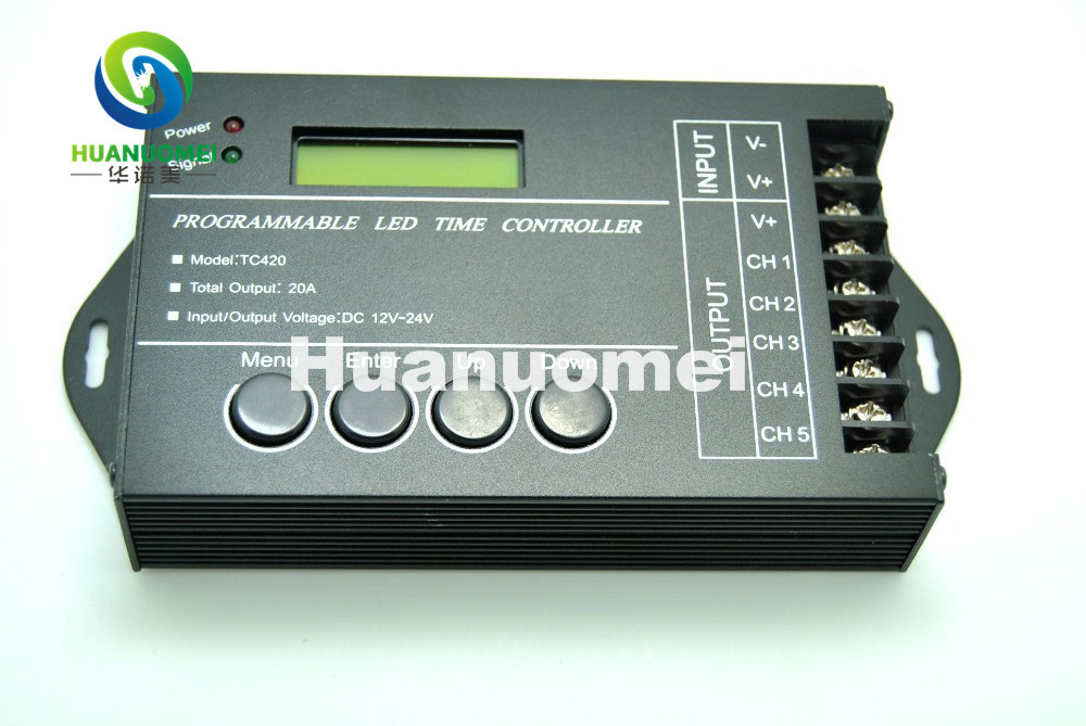 programmable tc420 led time controller DC12-24V 20A 5 Channels Output USB cable CD-ROM - COOL LED Strore store