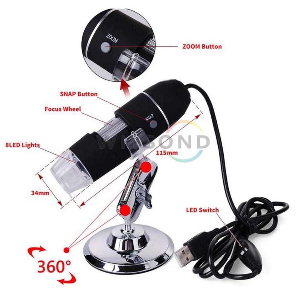 Купить TL016 Новый Портативный 8 Led USB Цифровой 40-800X2 MP Эндоскоп Лупа Камеры Микроскоп БЕСПЛАТНАЯ ДОСТАВКА