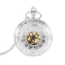 Buy Necklace Pocket Watch Vintage Unisex Hollow Quartz Pocket Watch Pendant Necklace Clock Chain Jewelry Gifts Father LL@17 for $2.04 in AliExpress store