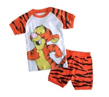 2015 Spring Autumn Cartoon Baby Boys Girls Kids Childrens Pijamas short Sleeve Cotton Pyjamas Sleepwear Pajamas Clothing Sets