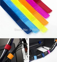 20pcs Colorful Magic PC TV Computer Electrical Wire Cable Manager Winder Velcro Tie Organizer Holder Wrap Straps Random Colors