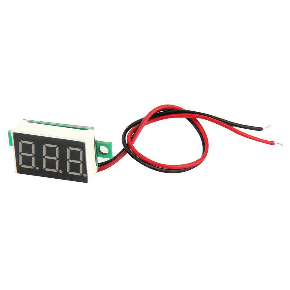 High Quality 2pcs Mini Red LED Panel Voltage Meter 3-Digital Adjustment Voltmeter Hot Selling(China (Mainland))
