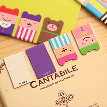 Set of 4pcs Birthday Gift Kawaii Magnetic Bookmarks Books Marker of Page Marcador de Livro Stationery Paperclip Office Supplies(China (Mainland))