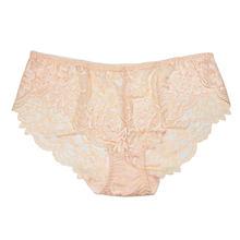 FallSweet Sexy Large Size Briefs Ultra-thin Women's Panties White Lace Panty 4xl(China)