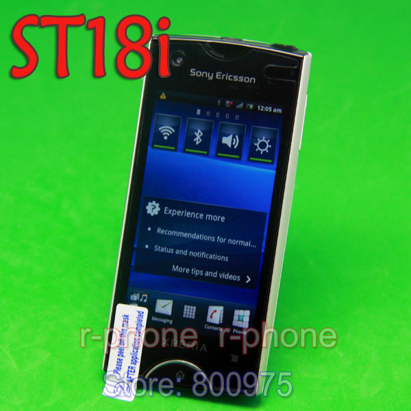 Unlocked ST18i Original Sony Ericsson Xperia Ray Mobile Phone Touchscreen Android Phone 2.3 GPS 3G WIFI 8MP Wthie(China (Mainland))