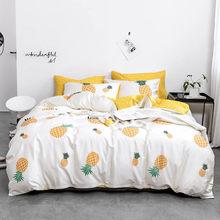 Home Textile 100% cotton plant bedding set cartoon bedding geometric Duvet Cover Set Bed Sheet quilt cover bedding(China)