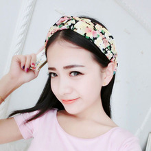 1 pcs Fashion Women Girl Yoga Elastic turbante Floral Twisted Knotted Hair Band Headband 2015 NEW(China (Mainland))
