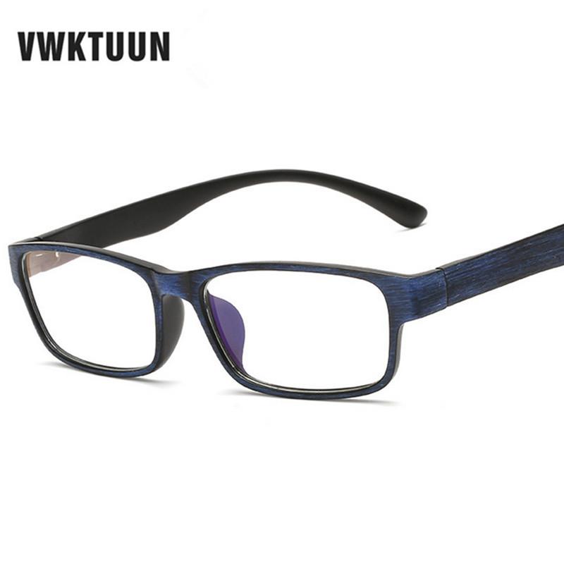 Large Frame Computer Glasses : VWKTUUN Retro Women Eyeglasses Wood Computer Glasses Frame ...