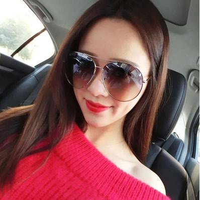 Summer style Big face was thin large frame sunglasses yurt influx of people male and female brown eyes, black sunglasses goggles(China (Mainland))