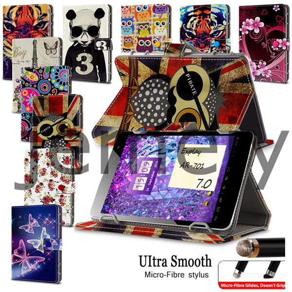 On Sales Printed Wallet Bags 7inch Universal Tablet Stand Leather Case for Explay AR 701 with Gift(China (Mainland))