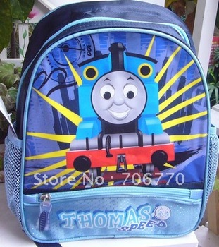"NEW Wholesale  LOTS Schoolbag for Children Thomas and Friends THOMAS~ Stylish Backpack 12"" size FREE SHIPPING"