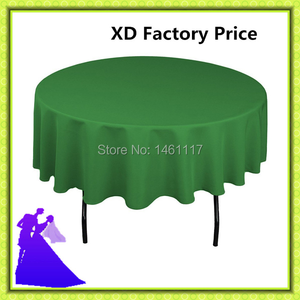 Factory Price  !! 100% polyester round table cloth in restaurant / wedding decoration  for sale (China (Mainland))