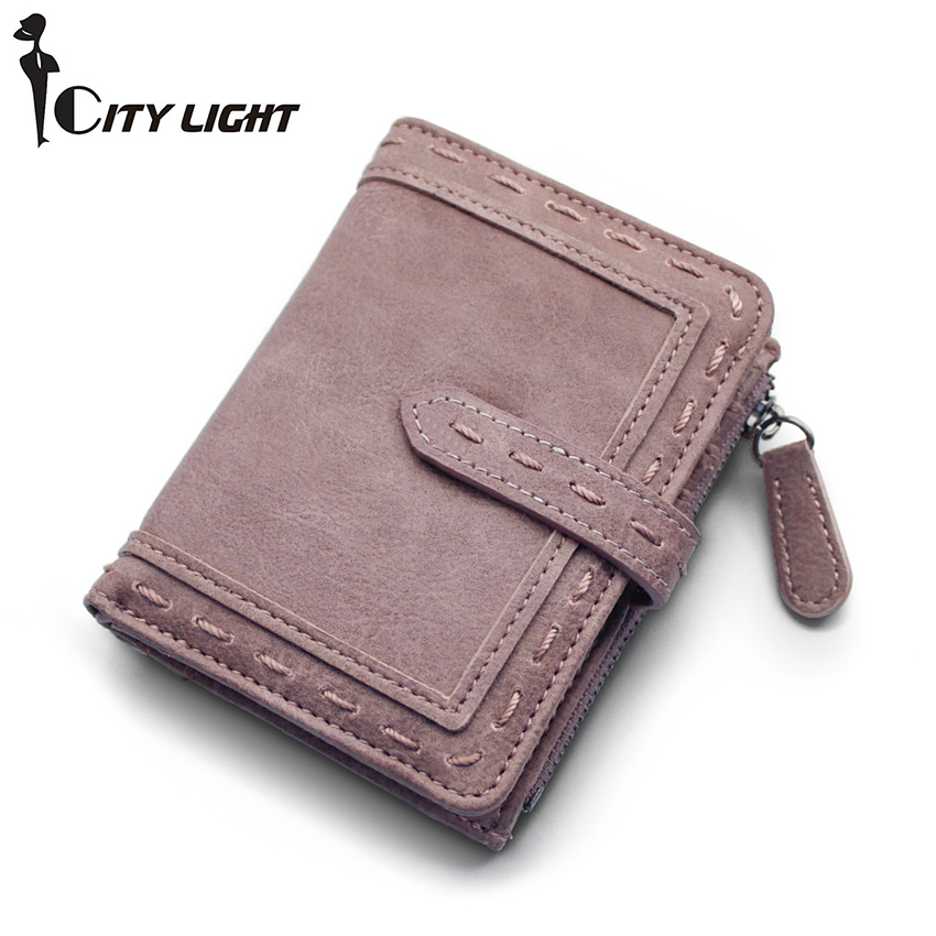 CITY LIGHT Women wallet fashion Two folding multi-function hasp simple wallet ladies wallet purse(China (Mainland))