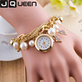 2016 Fashion Women Dress Watch Pearl Crystal Ston Ladies Bracelet Watch Multilayer Luxury Quartz Wristwatch