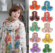 Hot Vogue Women Trendy Long Big Neck Wraps Scarf Soft Autumn Winter Scarves Th1tD(China (Mainland))
