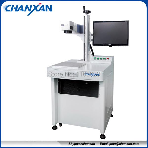 automatic 20w 175x175mm working area fiber color laser marking machine Skype:szchanxan(China (Mainland))