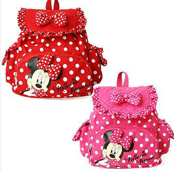 Free shipping !!! HOT Small Minnie Mouse Little Baby Children Girls Backpacks Cartoon School Bag for Kids(China (Mainland))