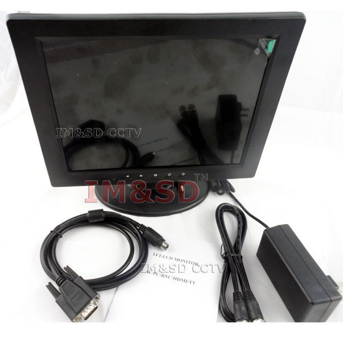 2014 New Hot 10.4 inch TFT LCD 4:3 screen VGA/BNC/ input monitor(China (Mainland))
