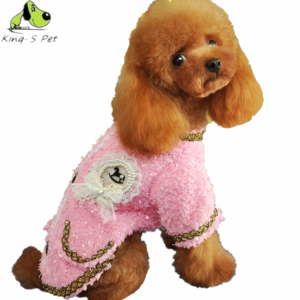 Luxury Cotton Lady Pattern Pet Dog Coat Jacket All Seasons Clothes For Dogs Solid Coat Jacket Cat Warm Coats Free Shipping(China (Mainland))