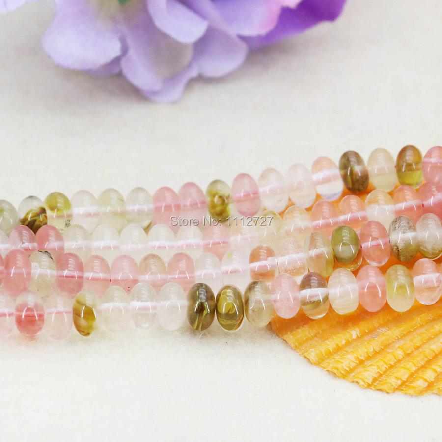 4*6mm 5*8mm Multicolor Watermelon Tourmaline Abacus Beads Accessories Crafts Loose DIY Beads Jasper Jade Stone Jewelry Making(China (Mainland))