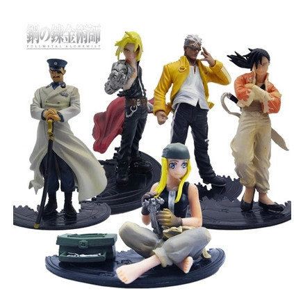 5PCS/Pack Fullmetal Alchemis Edward Elric Winry Rockbell Scar Winry Rockbell 9-12cm PVC Action Figure Model Toys Gifts<br><br>Aliexpress