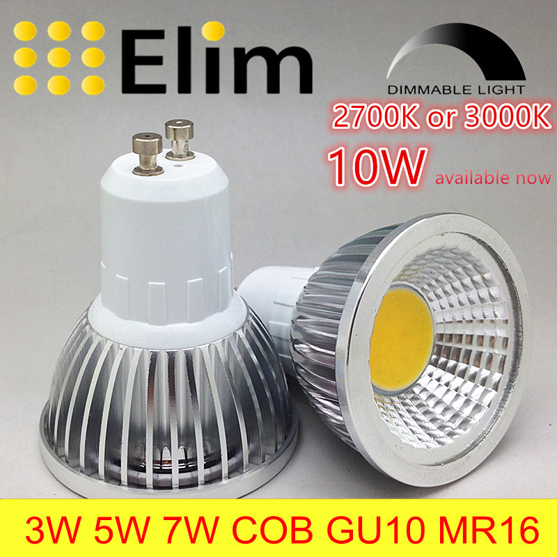 spot lamp LED Bulb Led GU10 Cob dimmable mr16 2700K 3000K Warm White 3W 5W 7W 10W bulb replace Halogen energy saving - Elimled lighting Co.,Ltd store