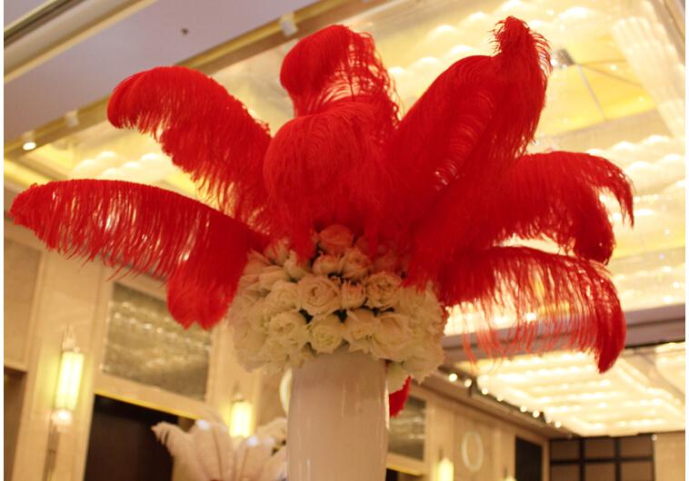 Cm hotel ostrich feather centerpieces wedding banquet