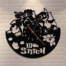 Buy Free 1Piece 11.8'' Handmade Lilo Stitch Art Vinyl Record Wall Clock Timepieces Lilo & Stitch Kid Room Home Decors for $17.77 in AliExpress store