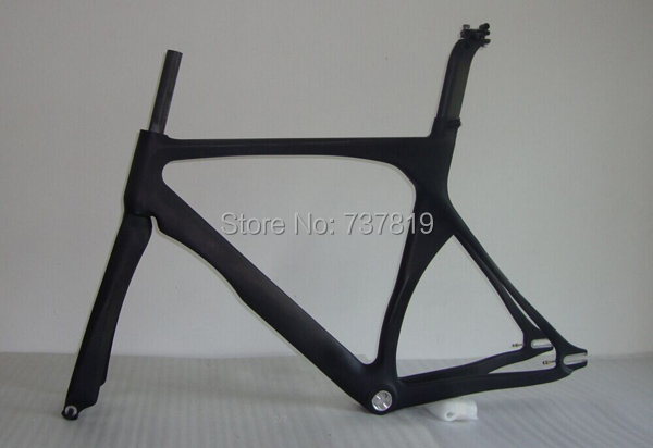 2015 new design carbon single speed frame features aero design track bike fork seatpost
