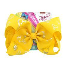 """1 חתיכה 8 """"JoJo קליפ Unicorn כוכב לב נקודות הדפסת שיער קשתות עם קליפים חד קרן הורן עבור בנות צבעוני סיכות אקססורי לשיער(China)"""
