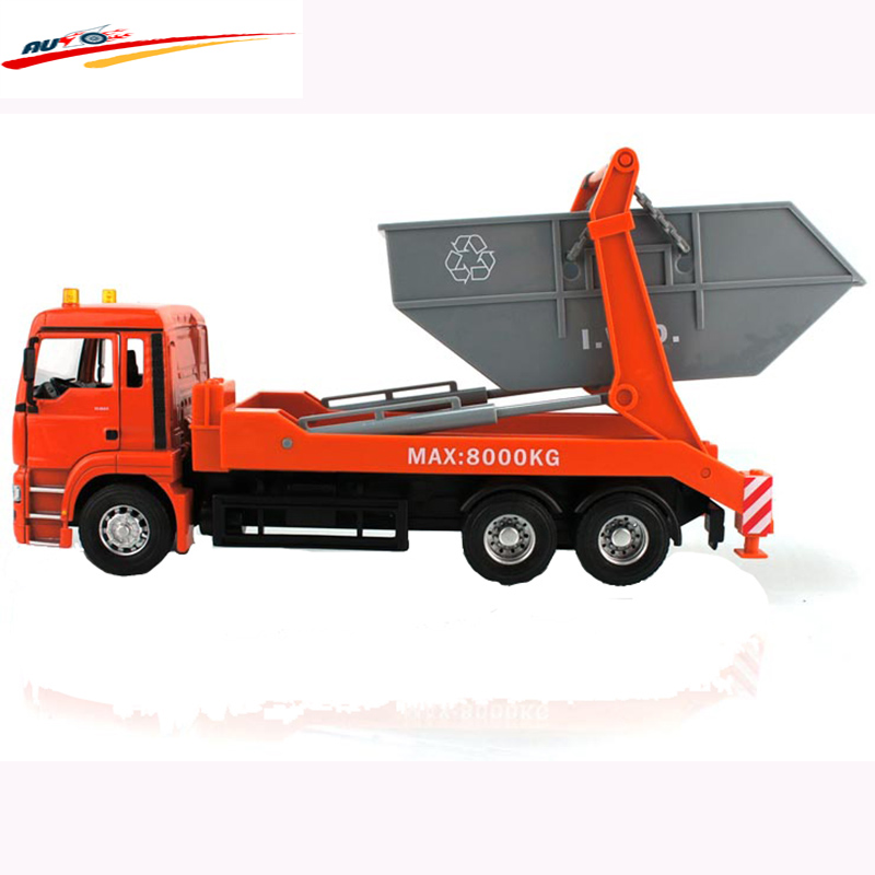 MAN Garbage Truck Rear Loading Orange - Great For Use Indoors And Outdoors Collection Model Toy(China (Mainland))