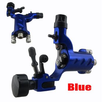 1pc Wholesale Price Free Shipping New Dragonfly Rotary Fine Machine Gun with RCA Hoop Blue Tattoo Machine Motor Gun