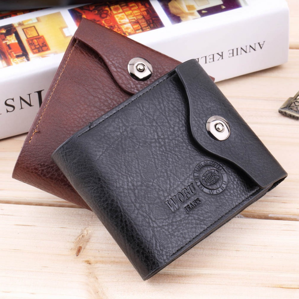 Gift Idea Hot new Bifold Wallet Men's PU Leather Credit/ID Card Holder Slim For Men/Casual Fashion Bags Men Purse Promotion!(China (Mainland))