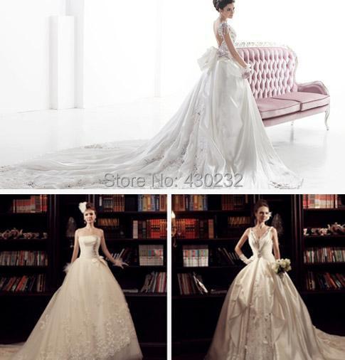 Atacado Strapless Tulle querida Appliqued vestido de noiva vestido frete grátis