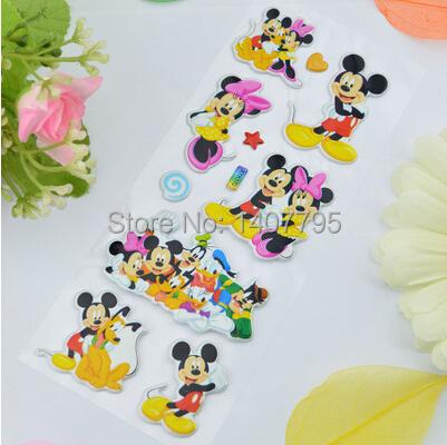 Retail 3 Pieces / Set Cartoon sticker paper Winnie the Pooh/ Mickey sticker on books Gifts for children(China (Mainland))